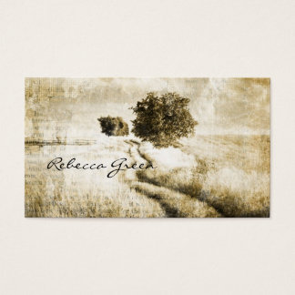 Rustic country Road western outdoor wedding Business Card