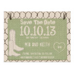 Rustic Country Save The Date Postcard