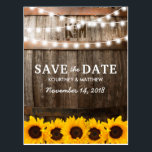 "Rustic Country Save the Date | Sunflower Lights Postcard<br><div class=""desc"">SUNFLOWER VINEYARD SAVE THE DATE POSTCARDS 