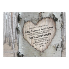 Rustic Country Silver Birch Tree Wedding