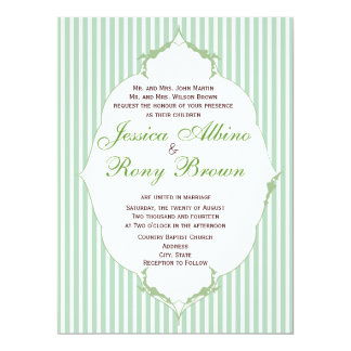 Rustic Country Simple Green Strip Card