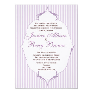 Rustic Country Simple Purple Strip Card