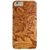 Rustic country southwest style western leather barely there iPhone 6 plus case