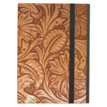 Rustic country southwest style western leather iPad air cover