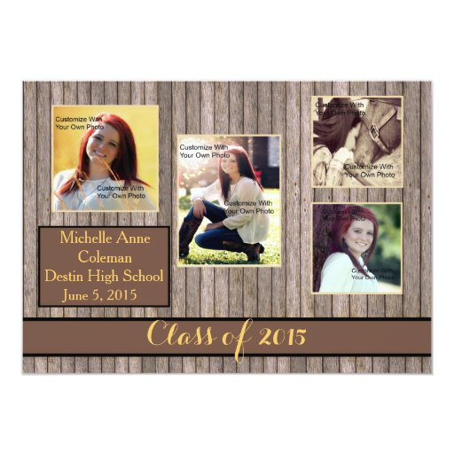 rustic country spice graduation announcement cards - Personalized Graduation Invitations