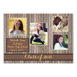 "Rustic Country Spice Graduation Announcement 5"" X 7"" Invitation Card"