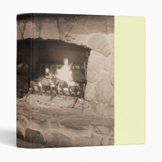 Rustic | Country Stone Fireplace Avery Binder