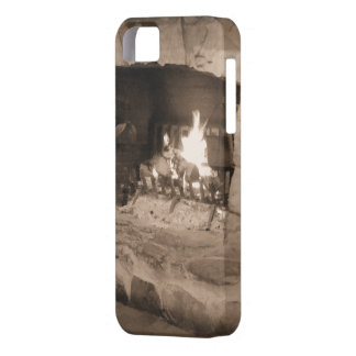 Rustic Country Stone Hearth | Fireplace Photo iPhone SE/5/5s Case