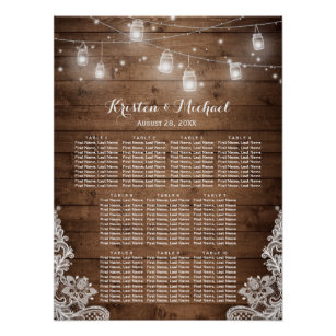 Wedding Seating Chart Posters | Zazzle