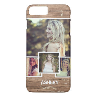 Rustic Country Style Picture Frame Photo Collage iPhone 7 Plus Case