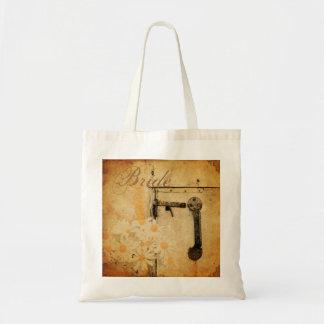 rustic country summer daisy wedding bride tote bag