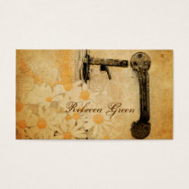 rustic country summer daisy wedding business card
