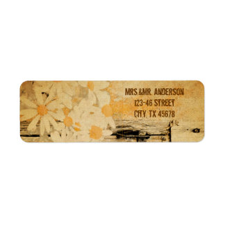 rustic country summer daisy wedding label
