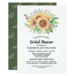 Rustic, Country Sunflower Bridal Shower Invitation