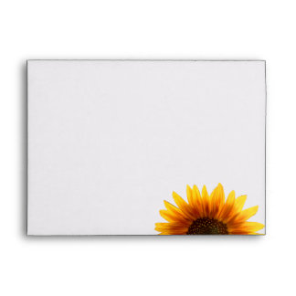 Rustic Country Sunflower Wedding Envelope