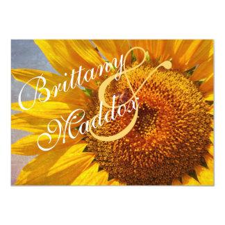 "Rustic Country Sunflower Wedding Invitations 4.5"" X 6.25"" Invitation Card"