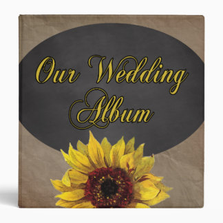 Rustic Country Sunflower Wedding Photo Album Binder