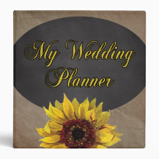 Rustic Country Sunflower Wedding Planner Binder