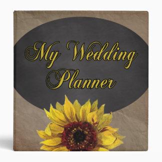 Rustic Country Sunflower Wedding Planner Binder