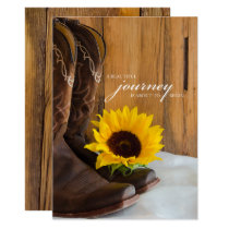 Rustic Country Sunflower Western Wedding Invitation