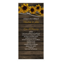 Rustic Country Sunflowers Barn Wood programs