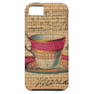 Rustic country tea party pink victorian teacup iPhone SE/5/5s case