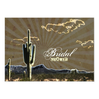 Rustic country Texas cactus western bridal shower Personalized Invites