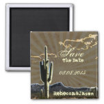 Rustic country Texas  western save the date Magnet