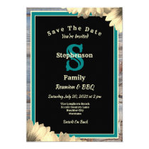 Rustic Country Theme Any Name Reunion and BBQ Invitation
