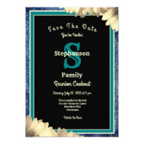 Rustic Country Theme Any Type Reunion Blue Denim Invitation