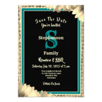 Rustic Country Theme Any Type Reunion Burlap Invitation
