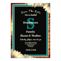 Rustic Country Theme Any Type Reunion Wood Grain Invitation