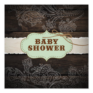 Rustic Country themed Baby Shower Card