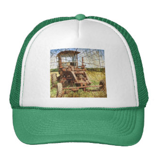 Rustic Country Tractor In Field Trucker Hat