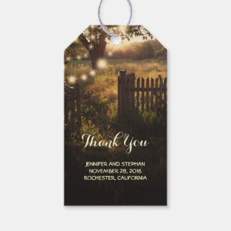 Rustic Country Tree and Lights Gift Tags