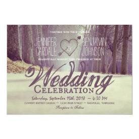Rustic Country Trees Fall Wedding Invitations
