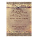 Rustic Country Vintage Bridal Shower Invitations Invite