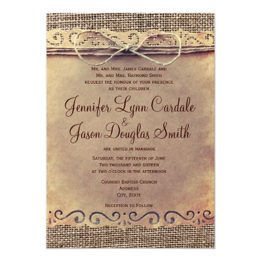 Country Rustic Wedding Invitations 003 - Country Rustic Wedding Invitations