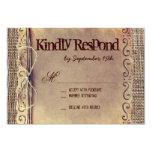 Rustic Country Vintage Burlap Wedding RSVP Cards Invites