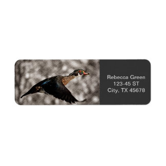 Rustic  country Vintage Flying Duck Return Address Labels