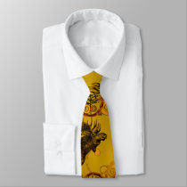 Rustic Country Vintage Forest Moose Neck Tie
