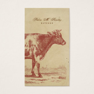 Rustic Country Vintage Milk Cow Simple Cool Animal Business Card