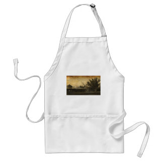 Rustic Country Vintage Photograph Adult Apron