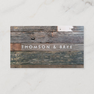 rustic country vintage reclaimed wood nature business card - Rustic Business Cards