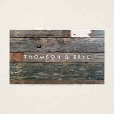 Rustic Country Vintage Reclaimed Wood Nature Business Card at Zazzle