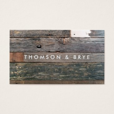sm_business_cards Rustic Country Vintage Reclaimed Wood Nature Business Card