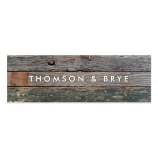 Rustic Country Vintage Reclaimed Wood Nature Double-Sided Mini Business Cards (Pack Of 20)
