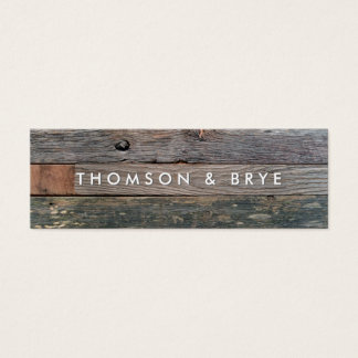 Rustic Country Vintage Reclaimed Wood Nature Mini Business Card