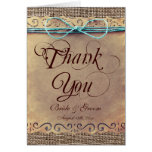 Rustic Country Vintage Wedding Thank You Cards