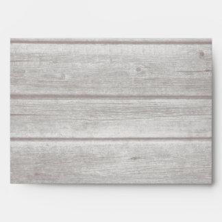 Rustic Country Vintage Wood 5 x 7 Envelope